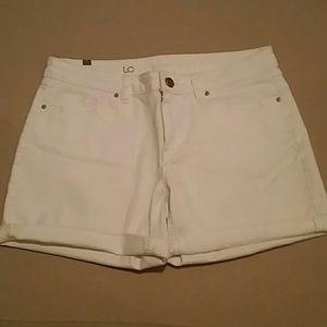 LC white jean shorts